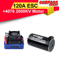 SURPASSHOBBY 4076 2000KV Brushless Motor +120A ECS for 1:8 RC Climbing Car