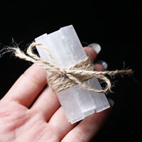 10pcs Natural Selenite Rough Stick Crystal Wand Minerals Specimen Healing Stone