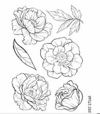 Peonies Clear Stamp Set By Paper Rose FREE POST