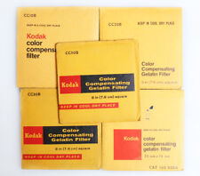 KODAK 3 INCH COLOR GEL FILTERS SET OF 5 CC10B/20B/30B/40B/50B