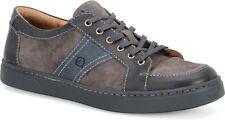 Born Baum Men's Size 10M Leather Sneakers H38422 Peltro Carbone Sea Glass New
