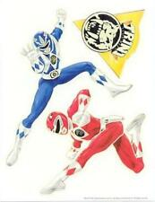POWER RANGERS Glow in the Dark 11 Stickers - sticks on a smooth surface