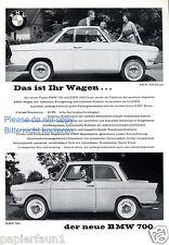 BMW 700 COUPE RARE Insegne di 1959 pubblicità ad navl