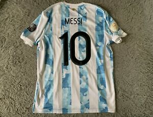 Argentina Home Football Jersey Copa America 2021 Adidas XL GE5475 Messi #10