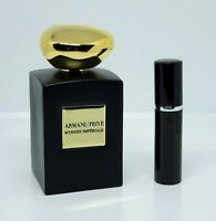 Armani Prive - Myrrhe Imperiale - 5ml SAMPLE Decant Glass Atomizer
