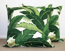 Genuine TOMMY BAHAMA OUTDOOR/INDOOR Palm Banana leaves 2 sided cushion cover