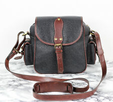 MULBERRY Scotchgrain & Tan Brown Leather Vintage Satchel Saddle Shoulder Bag