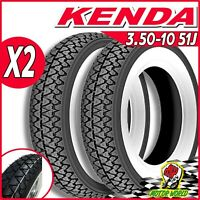 Pair Tyres KENDA K333 Band White 3.50-10 LML Star 125 150 200