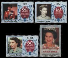 Tuvalu - Funafuti 1986 - Mi-Nr. 71-74 ** - MNH - Queen Elizabeth