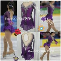 Ice Figure skating dress girl competition ice skating dress customize size h197