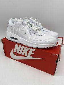 Nike Air Max 90 LTR White Kids in Uk 6 BRAND NEW CD6864 100