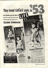1954 PAPER AD 2 PG Eegee Dolls Susan Stroller Goldberger Doll Co Advertising