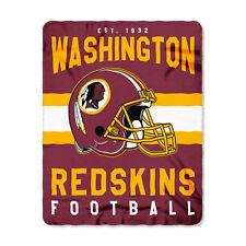 "New Style Football Washington Redskins Fleece blanket Soft Throw 50"" x 60"""