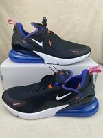 New Men's Nike Air Max 270 Running Shoes Size 12 Black White Blue DC1858-001