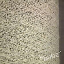Crema Natural Puro Algodón Hilo Grande 500g Cono 10 Bola crudo Tejer Crochet Tejido