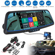 7'' 1080P Car DVR GPS Android 5.0 Dual Lens Navigation Rearview Mirror Camera