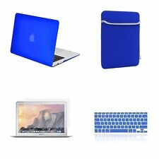 "4 IN 1 Macbook Air 13"" Royal Blue Rubberized Case + Keyboard Cover + LCD + Bag"