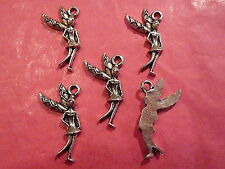 Tibetan Silver Tooth Fairy Charms 5 per pack