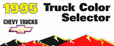 1995 Chevrolet Truck Paint Colors Sales Brochure - S-10 Blazer Silverado Tahoe