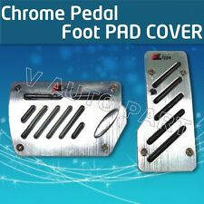 2X Foot PAD COVER Non slip Automatic Transmission AT CAR TRUCK CHROME PEDAL