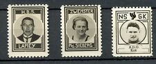 NEDERLAND 1937 ca   3 x  FOTO STAMPS  ON THICK PAPER NO GUM AS ISSUED
