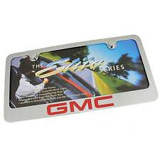 GMC Red Logo Chrome Brass License Plate Frame