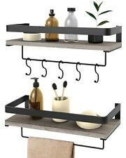 Audoc Floating Shelves Wall Mounted 2 Set Decorative Storage Shelves