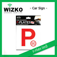 20pcs Red P Plate Car Truck Motorcycle Scooter Auto Magnetic Sign Bulk