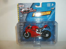 2018 MAISTO FRESH METAL 2 WHEELERS 1/18 RED 2012 DUCATI 1199 PANIGALE