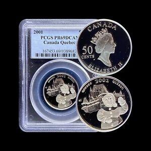 2001 Canada 50 Cent (Silver) - PCGS PR69 DCAM - Top Pop 🥇 Quebec