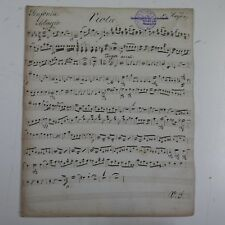 Haydn Sinfonia 99, Viola parte, antico manoscritto di musica