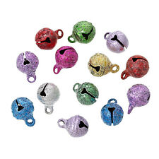10 Pièces Cloche 11mm x 8mm Mixte Stardust, grelots Jingle Bell Metal Clochette