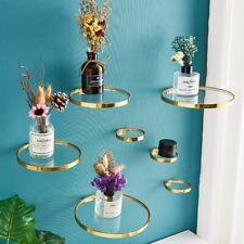 Shelf Glass Decoration Set Ledge Wall Mount Modern Bracket Support Racks Holders