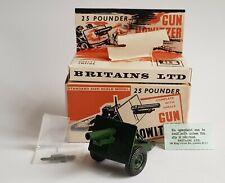 Britains Models No. 9705, 25 Pounder Gun Howitzer, - Pristine Mint Condition.
