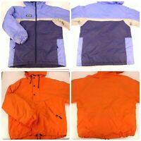 Lot 2 Womens Size Large Winter Jackets Columbia Gap Blue Orange Hooded Warm Coat