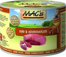 MACs Cat Rind & Hühnerherzen | 6x 200g Katzenfutter