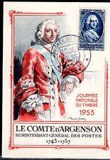 FRANCE FDC - 1953 01 JOURNEE DU TIMBRE - LYON - sur CARTE POSTALE