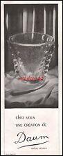 Publicité  Cristallerie Daum  photo vintage  ad  1941 -9i