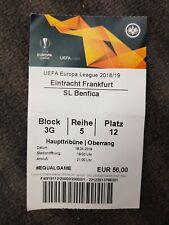 Sammler Ticket Uefa 18/19 Eintracht Frankfurt SL Benfica Lissabon Lisboa Sport