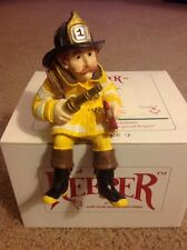 Keeper of Firefighter Fireman Figurine Shelf Sitter Shenandoah Designs NIB