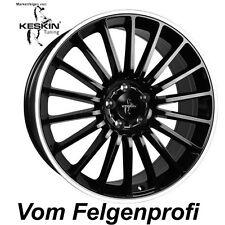 """19"""" ET30 Alu Felgen (4x) Keskin KT15 Black Polish für Audi A4 Allroad B8, B81"""