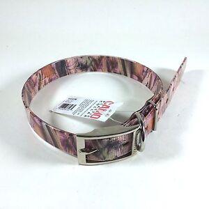 "Valhoma Pink Woodland Camo 1"" Plastic Dog Collar Various Sizes"