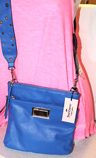 Juicy Couture Women's Bright Cobalt Blue Cross Body Bag With Studded Strap-NWT