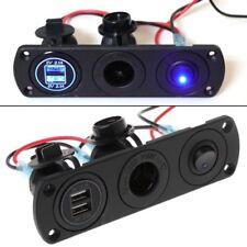 12V Dual USB-Charger Power Socket Outlet Plug Panel Mount Boat Truck Car Vehicle