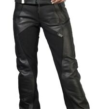 Pantalons noirs en cuir pour motocyclette taille 40