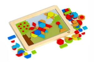 NEW Tooky Toy Magnetic Puzzle & Whiteboard - Shapes - 77pc