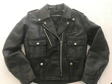 Men/Wom Vintage HARLEY-DAVIDSON AMF Heavy Duty leather motorcycle jacket 36 R!