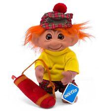 """Vintage Golfer DAM Norfin Troll Doll 8.25"""" Orange Hair Golf Club & Bag 60523"""