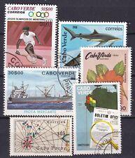 ISLA CABO VERDE Lote sellos conmemorativos muy grandes usados 46136