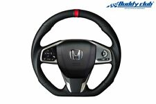 Buddy Club Racing Leather Steering Wheel for 17-UP Honda Civic Si Type R